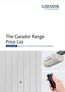 Garador Range Pricelist