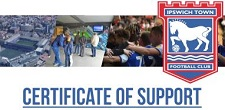Ipswich Town Certificate of Support