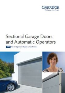 Garador Sectional Door Range Brochure