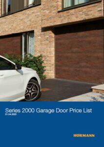 Hormann Series 2000 Garage Door Price List Brochure